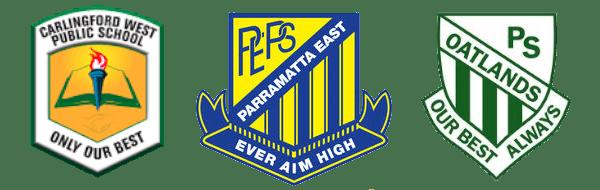 Three School Logos